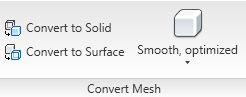 Convert Mesh panel in the Ribbon