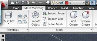 Mesh panel in the Ribbon