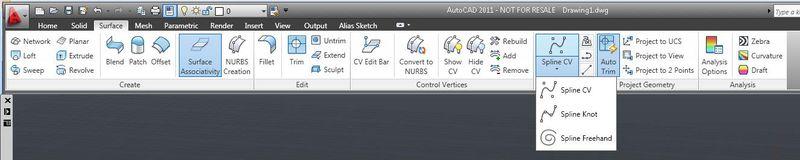 Surface tab & splines